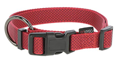 Kerbl GoLeyGo 2.0 Flat Set – Halsband Leine Adapter-Pin, Klick Magnetverschluss, Rot, M