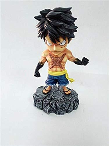 wxxsjfj Anime One Piece Underworld Roronoa Zoro Sanji Monkey D Luffy con Tatuaje PVC Figura de acción Juguetes 15cm Luffy con Caja-B con Caja