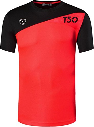 jeansian Herren Sportswear Quick Dry Short Sleeve T-Shirt LSL131_Orange XL
