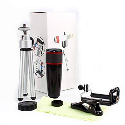 Mobiele telefoon lens 12 keer hoog vermogen telescoop HD telescoop optische enkele buis met statief reizen gemakkelijk te dragen