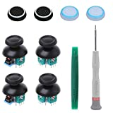 Onyehn 4pcs Analog 3D Joystick Thumbstick Sensor Replacement fit for Sony Playstation 4 PS4 Controllers,with Screwdriver Repair Kits Parts+4 Mushroom Caps+4 Fluorescent Button caps