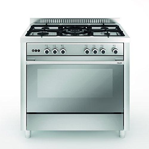 Vitrokitchen MX96IN Independiente Encimera de gas Acero inoxidable - Cocina (Cocina independiente, Acero inoxidable, Giratorio, Parte superior delantera, Encimera de gas, medio)