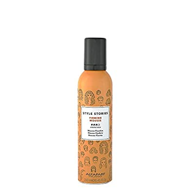 Alfaparf Milano Style Stories Firming Mousse Styling Product - Strong Hold - Long-Lasting - All Day Hold - Professional Salon Quality - 8.45 fl. oz.