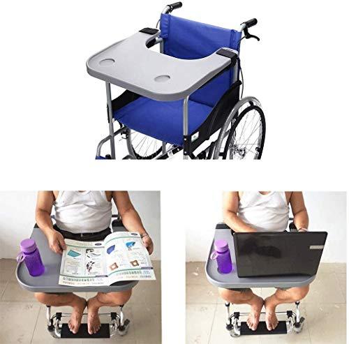 Volwassen rolstoeltafel, rolstoel schootblad voor invaliden lezen met bekerhouder Geschikt voor handmatige of elektrische rolstoelen