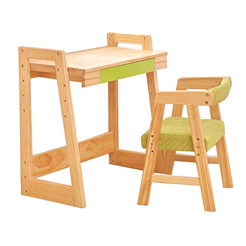 Ensembles de tables et chaises Bureau Bureau En Bois Massif Table De Travail Pour Enfant Bureau Étudiant Chaise Bureaux Et Chaises De Maison Bureau D'ordinateur Bureau Couleur Bois 65cm Ensembles de t