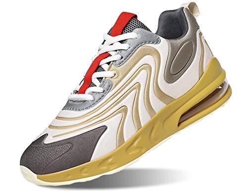 SINOES Herren Sportschuhe Leichtgewicht Laufschuhe straßenlaufschuhe Trainer Outdoor Sneaker Freizeitschuhe Gym Fitnessschuhe