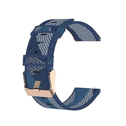 FC For la Banda de reemplazo de la Correa de Fitbit Versa 2 Banda de Nylon Correa de Reloj del Lienzo por Fitbit Blaze/Versa/Versa Lite Pulsera de muñeca (Color : Blue, Size : Fitbit Versa 2)