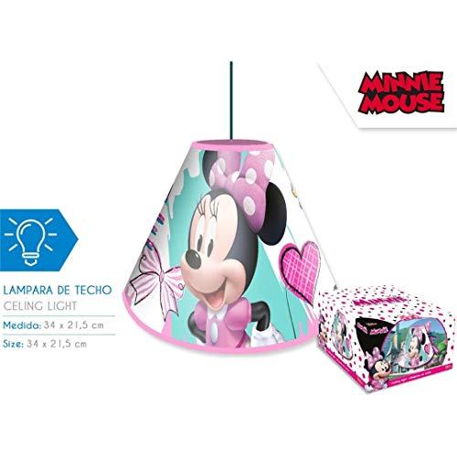 MINNIE MOUSE Techo de Minnie Lámparas Hogar Unisex Infantil, Multicolor (Multicolor), Talla Única