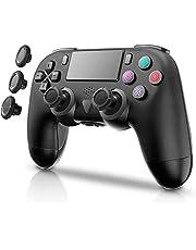 PS4 コントローラー mkeety PS4 ワイヤレス ゲームパット 無線 Bluetooth接続 最新バージョン Bluetooth リンク遅延なし 振動機能 重力感応 イヤホンジャック PS4 Pro/Slim/PC 対応(ブラック)
