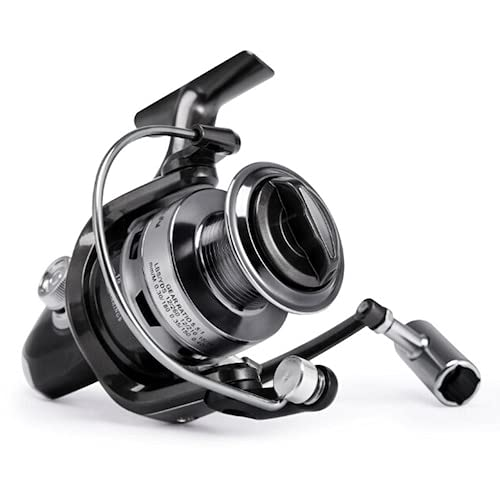 HaiMa Metal Head Textile Type Fishing Line Wheel Sea Rickets Reel Rover Asian Fishing Wheel Navion Fishing Gear - Negro Ac1000