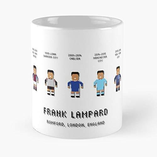 Inglés New USA London York Legends Frank Soccer Inglaterra Lampard Football Best Taza de café de cerámica de 325 ml Personalizar