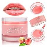 Lip Sleep Mask with Collagen Peptide, Peach Lip Scrub Overnight Moisturizer for Lip Skin Care and Lip Treatment Repairs...
