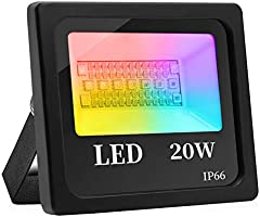 Fitop Smart Floodlight, 20W 1600LM Equivalent 150W Smart Flood Light, APP Remote Control IP66 Outdoor LED Landscape...