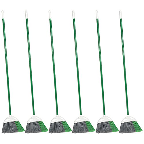 Libman Commercial 201 Precision Angle Broom - Lot of 6