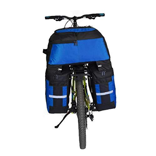 70L traseras Bolso de la Bicicleta a Prueba de Agua de la Bici de Maletas Bolsas 3 en 1 Bolsa de sillín de la Bicicleta con la Cubierta Impermeable para Viajes Senderismo Práctica portátil Living
