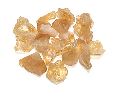 Zentron Crystal Collection: Rough Citrine Crystal Stone, Comes With Velvet Bag (1/2 Pound)