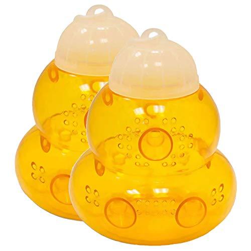 ZRWLZT 2 Pezzi Wasp Trap Trappola per Vespe Bees Catcher Plastica Realizzato in Plastica Riutilizzabile può Essere Appeso O Utilizzato A Forma di Clessidra da Esterno per Attirare Le Vespe