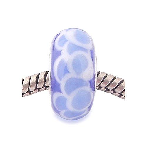 Andante-Stones 925 sterling zilver Murano glas kraal