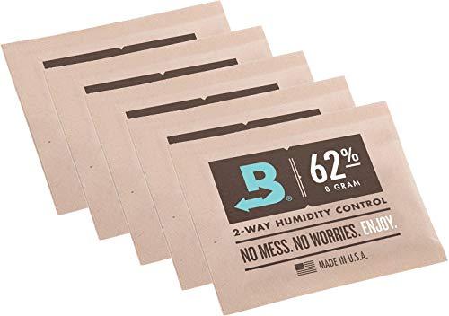 yaoviz Set Boveda 62% 5 Beutel mit je 8g - 2-Wege-Feuchtigkeitsregler + Rasta-Button