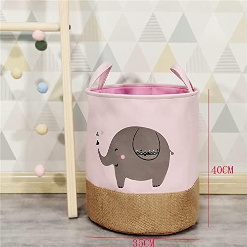 Cesta impermeable soporte de la cesta de la ropa de la cesta de almacenamiento de juguetes bolsa grande de algodón lavado ropa sucia cesta grande organizador Bin asa aspicture 216daxiang