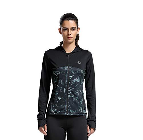 Sudadera para Mujer Ropa Interior Sudaderas con Capucha Bolsillo Cremallera Ropa Deportiva Gato con cordón Superdry Jacket Verde Negro M