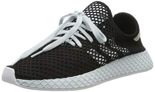 adidas Damen Deerupt Runner Sneaker, Schwarz (Core Black/Footwear White/Blue Tint 0), 40 2/3 EU
