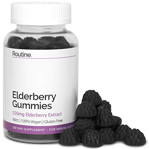 Elderberry Immunity Booster Gummies with Vitamin C and Zinc - 150MG - All Natural and Delicious Immune Support Gummy for Adults and Kids. Non-GMO - No Gelatin - Gluten Free | 60 Gummies