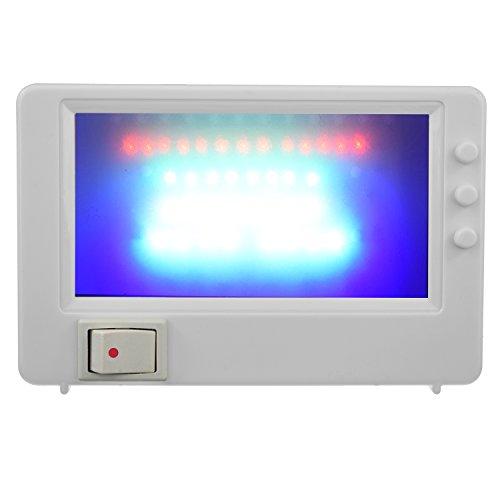 LED TV Simulator Fernseher Attrappe Dummy Einbruchschutz Fernsehsimulator Fake Imitation für die Steckdose weiß