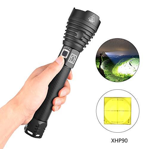 AKDSteel XHP90 - Linterna LED de 3 Modos con regulador de