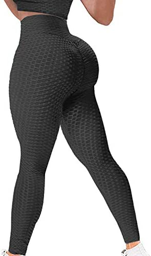 YAMOM High Waist Butt Lifting Anti Cellulite Workout Leggings for Women Yoga Pants Tummy Control product image