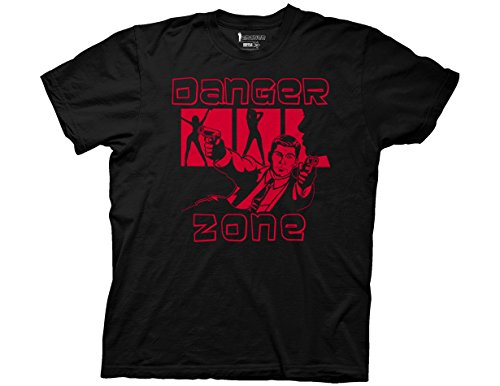 Ripple Junction Archer Danger Zone Archer with Gun Adult T-Shirt Medium Black