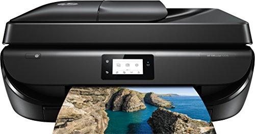 HP OfficeJet 5220, Stampante Multifunzione a Getto di Inchiostro, Stampa, Scannerizza, Fotocopia, Fax, Wi-Fi Direct, 2 Mesi di Servizio Instant Ink Inclusi, Nero