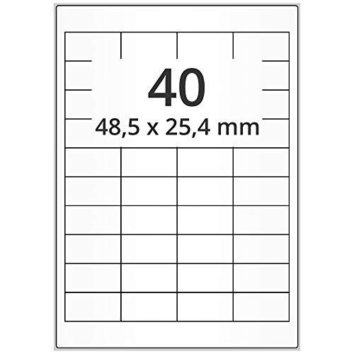 Labelident - Etiquetas de papel para Amazon FBA Versand (49 x 25 mm, 20000 unidades, autoadhesivas, 500 hojas), color blanco