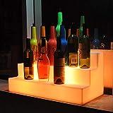 LED Liquor Bottle Display Shelf Light,Illuminated Bar Bottle Stand Rack with Remote Control Home Bar Drinks Lighting Shelves for Party