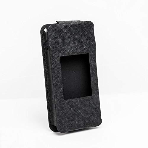 ポケットWiFi用PUレザーケース【保護フィルム・ハンドストラップ付き】 (W06)