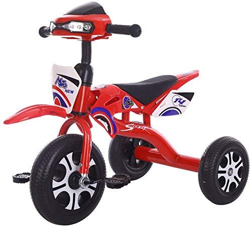 WLD kinderfiets kinderfiets frame 3 wielen kinderfiets 1-3-2-6 jaar driewieler met muziekverlichting 2 kleuren cadeau voor verjaardag