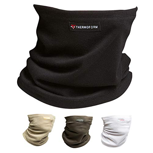 Multifunktionstuch Schlauchschal – Nahtloses Halstuch – atmungsaktiv und hautfreundlich, Schlauchtuch Bandana zum Schutz vor Kälte - (Schwarz), one size