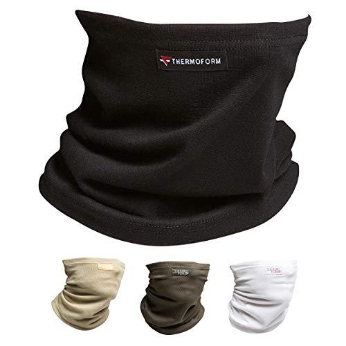 Oramics Multifunktionstuch Schlauchschal – Nahtloses Halstuch für Männer und Frauen – atmungsaktiv und hautfreundlich, Schlauchtuch für Sport und Freizeit, Bandana für den Schutz vor Kälte (Schwarz)