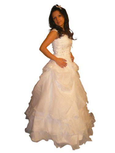 KR02 Vestido de novia. Talles 38 en blanco.