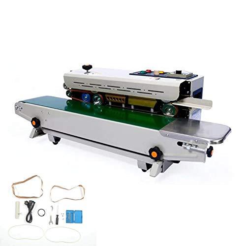 自動連続シール機 フードシーラー 120mmシール PE/PP/PS/PET/アルミ箔袋 食品密封保存・鮮度長持ち 0~300℃温度調整可能 アルミ箔袋・クラフト紙袋・複合フィルム袋など対応 業務用(110V)