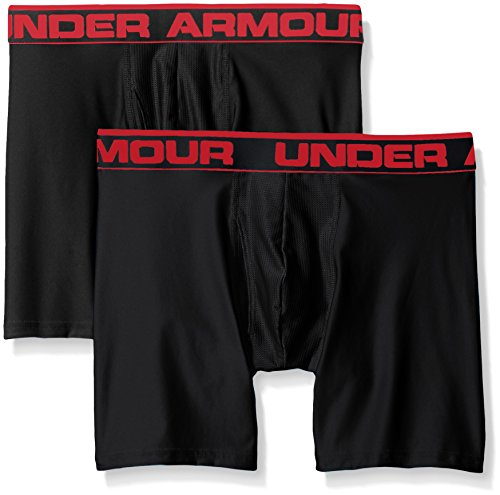 "Under Armour Men's Original Series 6"" Boxerjock, Black/Black, X-Large, Pack of 2"