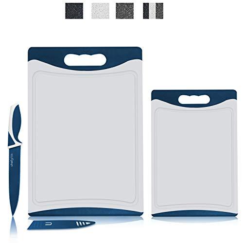 CHEF GRIDS Durable Plastic XL Marble Cutting Board, Chopping Board...