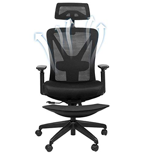 Restar Ergonomics Office Chair for Working Meeting, with 4D Adjustable Back, Armrest's Mesh, Lumbar Support Rolling Luxury Chair