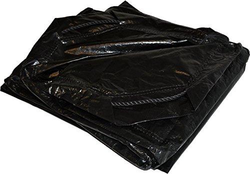 6' x 6' Dry Top Black Drawstring 8-mil Poly Tarp Item #500660