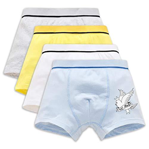 805 Worthy Cap-Tain America Youth Unterwäsche Baumwolle Kurz Panties Atmungsaktiv 4er Pack Boxershorts Set für Teenager Jungen Gr. M, Lil Boy P-ee