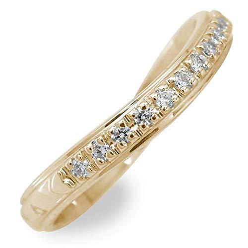 アルマ ハーフエタニティリング 18金 イエローゴールド ダイヤモンド 誕生石 12.5号 【170515w11】