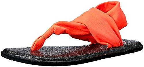 Sanuk Kids Yoga Sling Burst Flip Flop (Toddler Little Kid Big Kid), Tropical Papaya, 7 8 M US Toddler