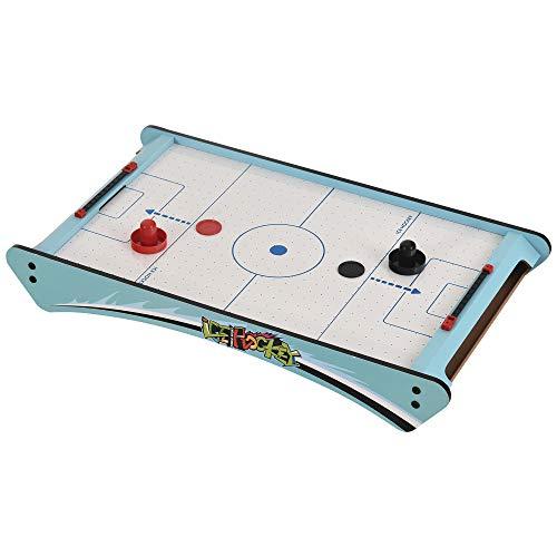 HOMCOM Mini Mesa de Hockey de Aire Juego de Hockey sobre Hielo con Ventilador para Fiesta Doméstico Portátil y Divertido Mayores de 8 Años 72,5x40x10,5 cm Azul