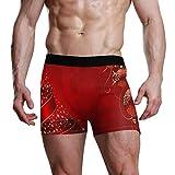 REFFW Calzoncillos para Hombre Bolsa abultada Hermosas Bolas Rojas navideñas Estiran el baúl del Boxeador