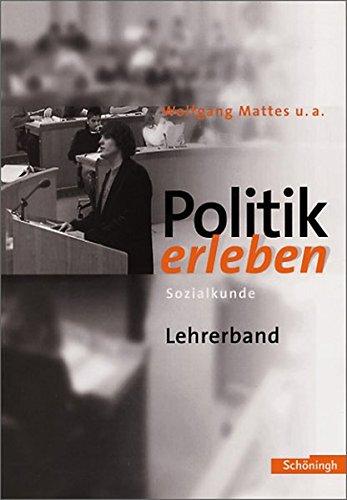 Politik erleben- Sozialkunde Lehrerband